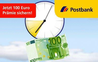 100 Euro Prämie für ein kostenloses Postbank Girokonto in der Happy Hour