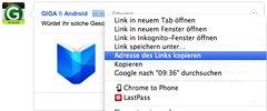 Google+ Link kopieren