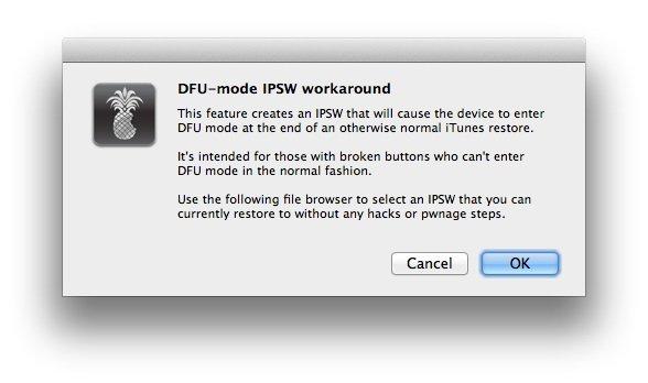 DFU-IPSW-Modus