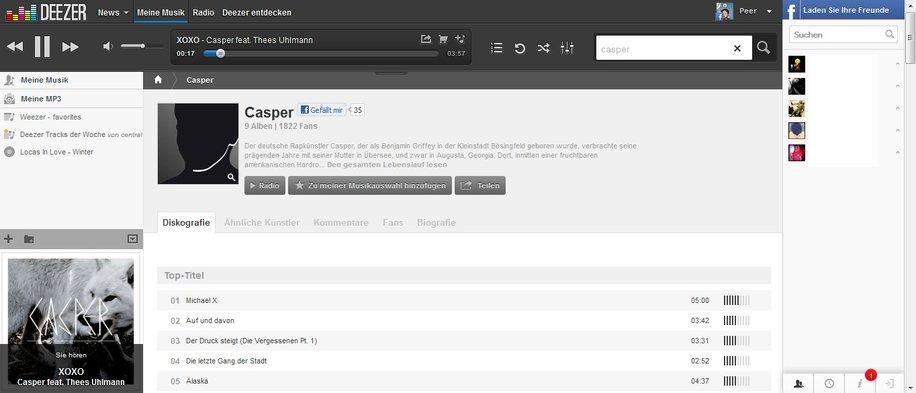 deezer funktionen screenshot