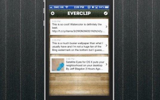 EverClip: Eine Ablage für die iOS-Zwischenablage mit Evernote-Integration