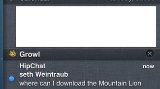 Growl 2.0 bringt Integration in Mitteilungszentrale von Mountain Lion
