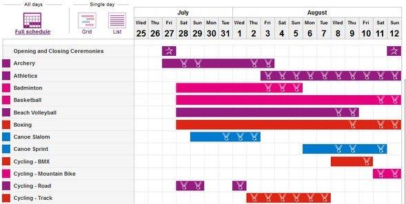 Olympia 2012 Zeitplan offiziell
