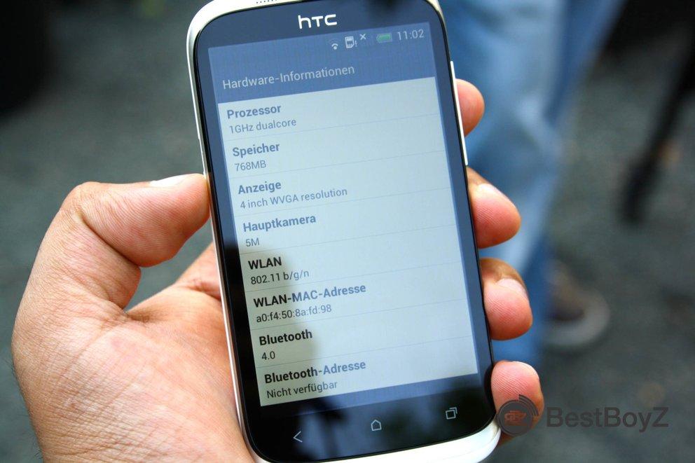 HTC Desire X - ein Mittelklasse-Androide