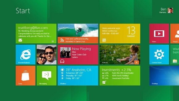 Windows 8 Kacheln