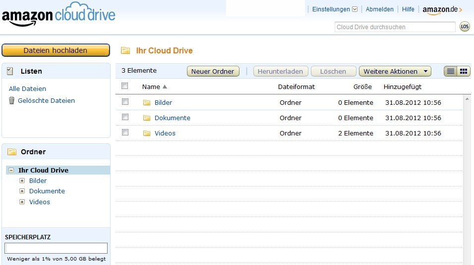 amazon-cloud-drive-oberflaeche-browser