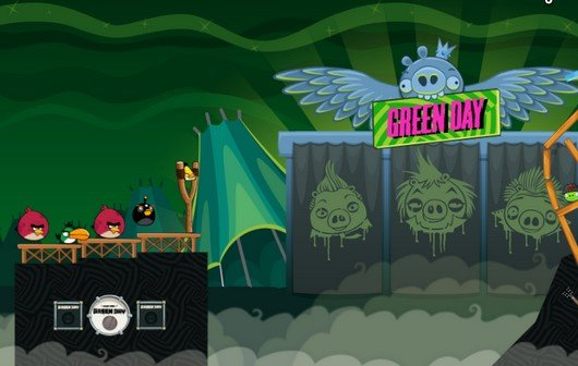 Angry Birds meets Green Day: 10 neue Gratis-Level, exklusiven Song freispielen