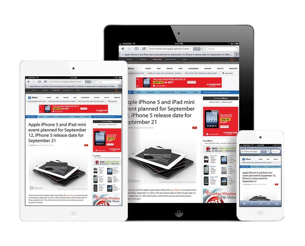 iPad Mini im Größenvergleich