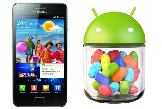 Galaxy S2 und Note: 4.1.2 kommt Anfang 2013