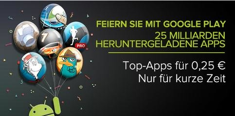 Google Play: Apps für 25 Cent - Tag 1
