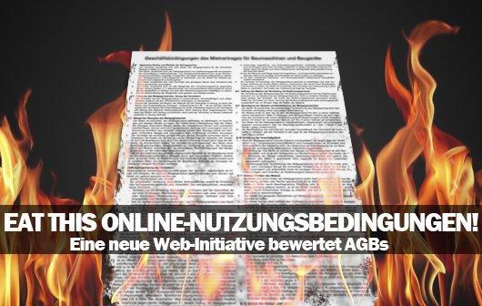 Eat this Online-Nutzungsbedingungen – Eine neue Initiative bewertet AGBs