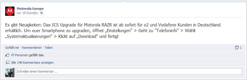 Motorola Europe - Facebook Post