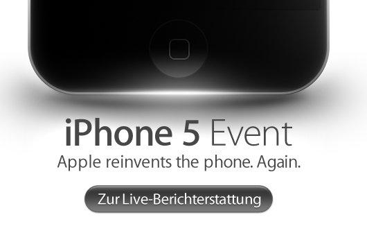 iPhone 5: Live-Ticker und Live-Show bei GIGA