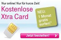 Kostenlose Xtra Card der Telekom inkl. 1 Monat gratis Surfen