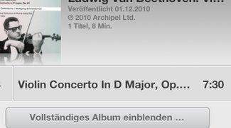 iOS 6: Alben in der Musik-App vervollständigen