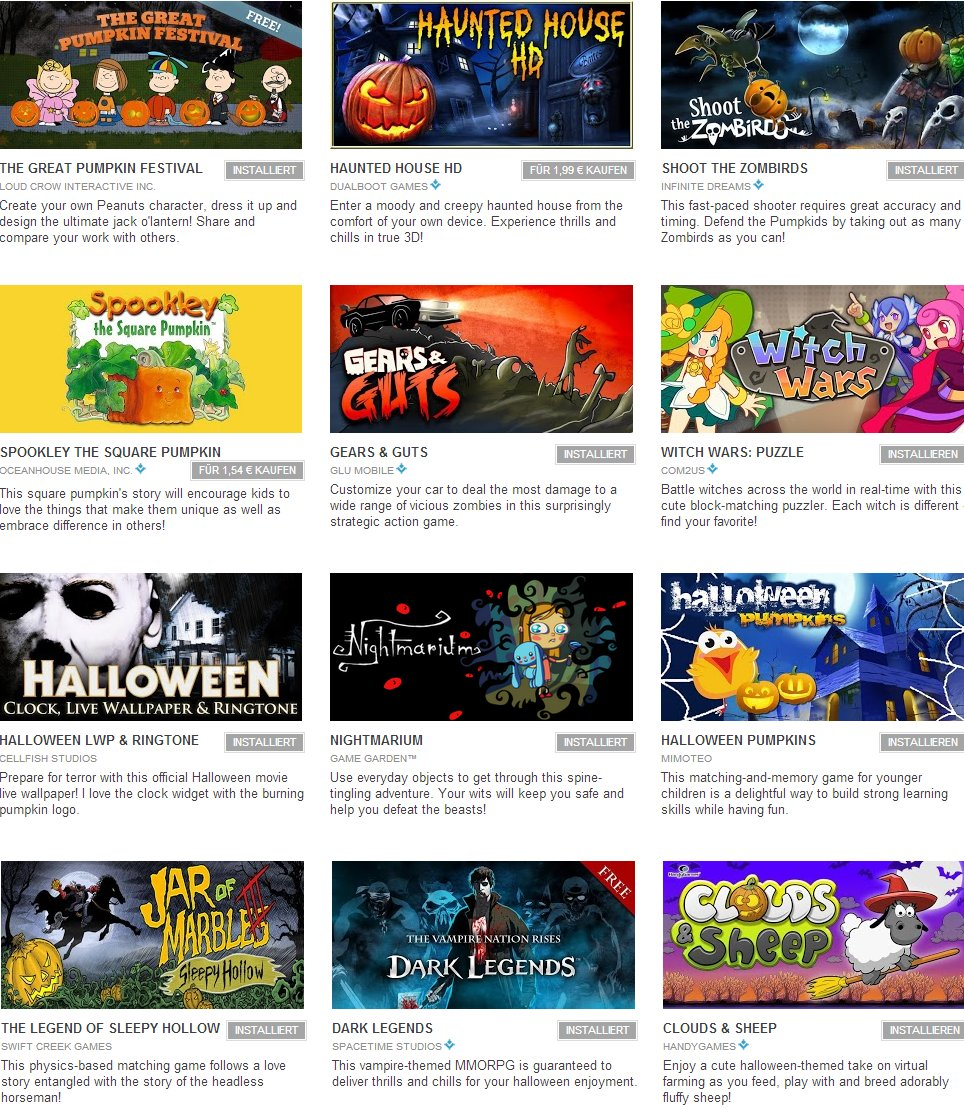 Android Halloween Apps