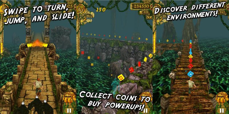Temple Run Spiel Screenshot