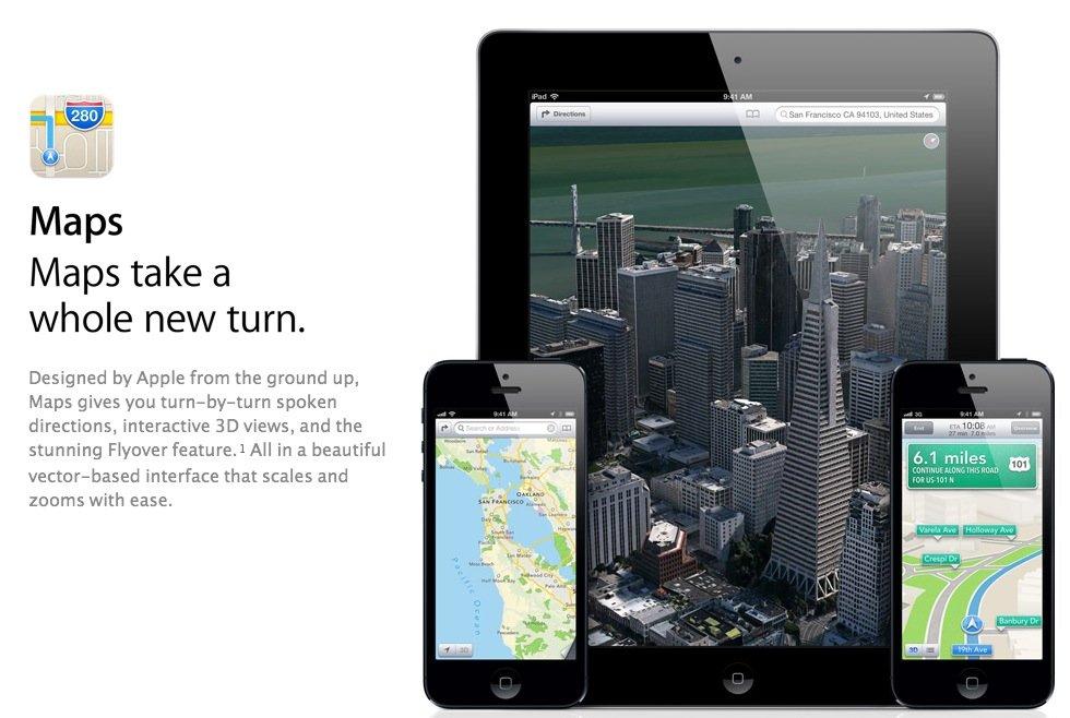 Karten-Desaster: Apples Website wird bescheidener