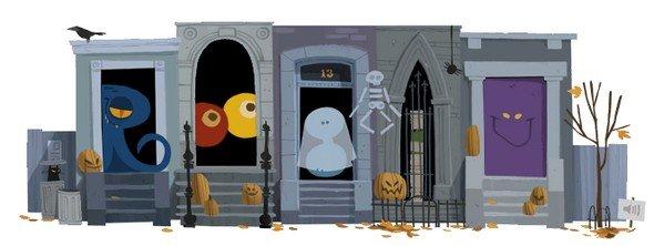 Google-Doodle zu Halloween 2012 - nachher