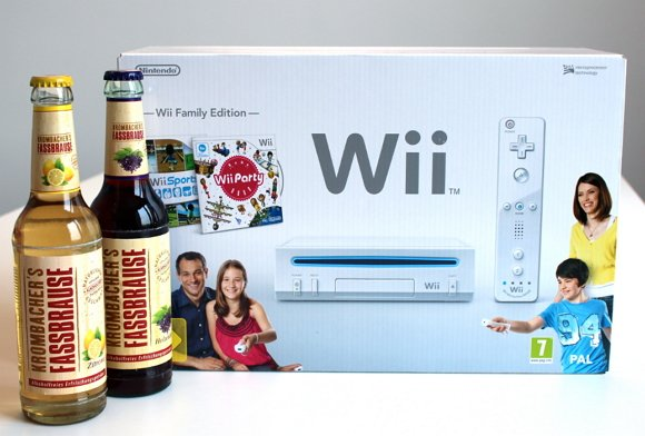 Krombachers Fassbrause verlost Wii Spielekonsole