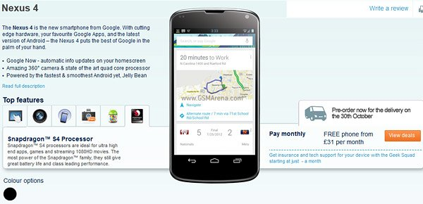 Nexus 4: LG veröffentlicht Quick Start Guide