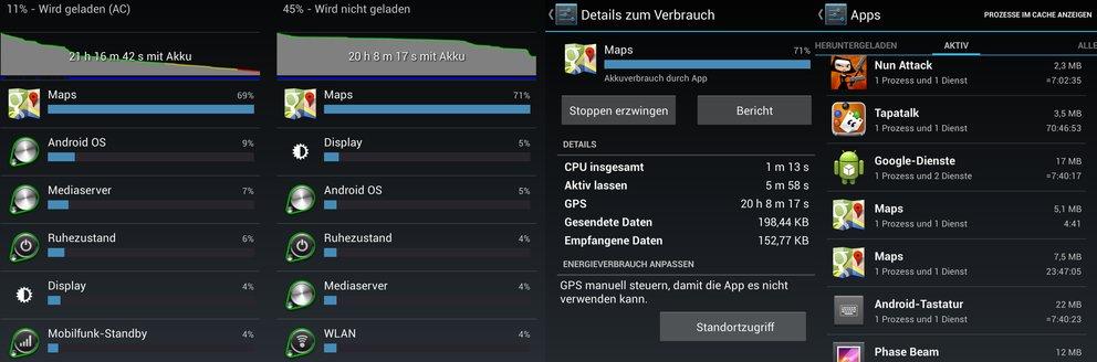 Android 4.2 Akku