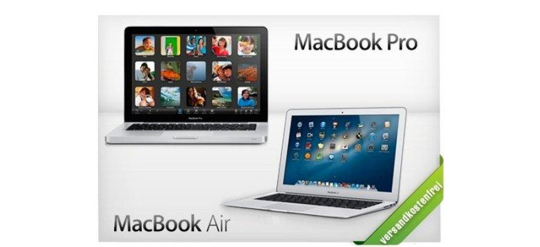 MacBook Air und MacBook Pro im Angebot