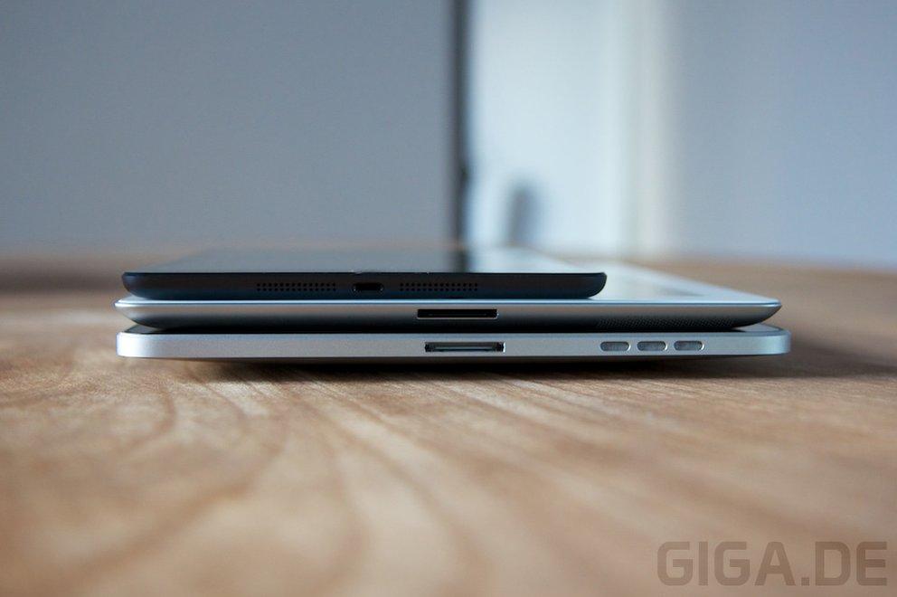 iPad mini vs iPad 3 vs iPad 1