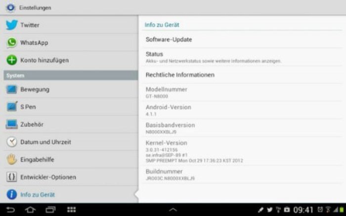 Note 10.1 Jelly Bean