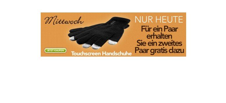 Ein Paar Touchscreen Handschuhe kaufen und ein zweites Paar gratis bekommen