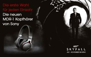 MDR-1 Kopfhörer von Sony und zwei James Bond-Filme im Bundle
