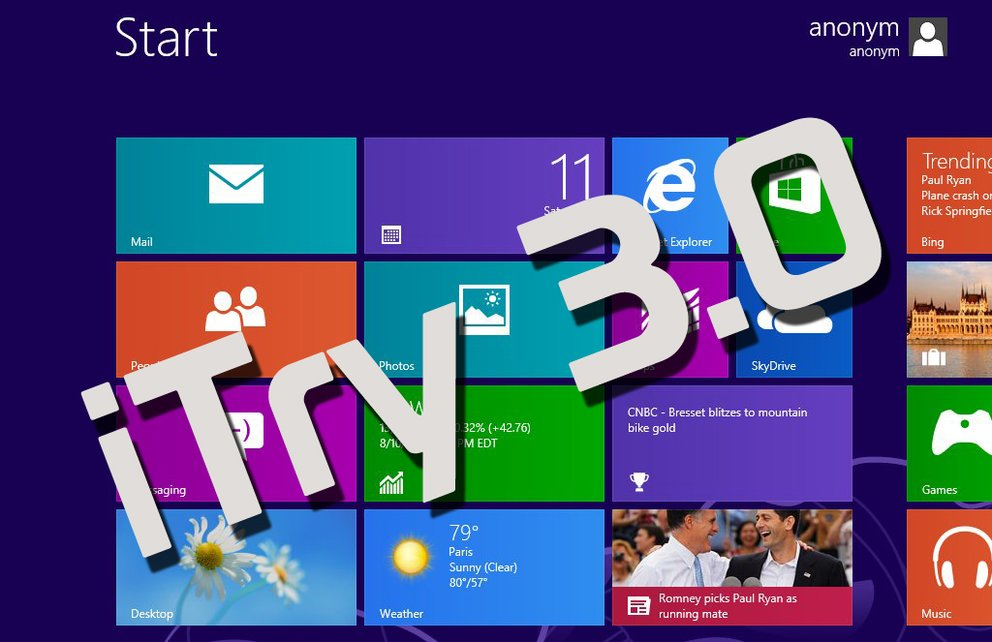 iTry 3.0: Windows 8 statt Android-Pracht