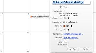 OS X Kalender-Tipp: Ort und Uhrzeit schneller eintragen