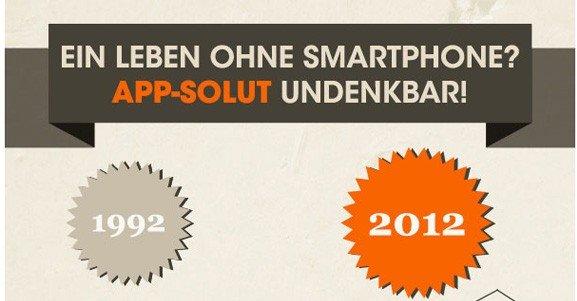 Ein Leben ohne Smartphone? App-solut undenkbar! (Infografik)