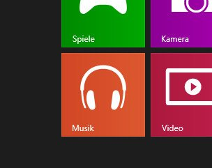 Musik-App von Windows 8