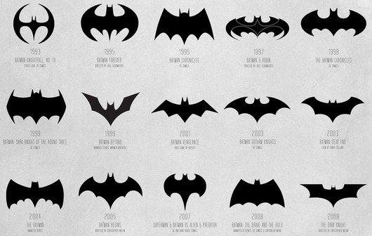 Infografik: Die Evolution des Batman-Logos