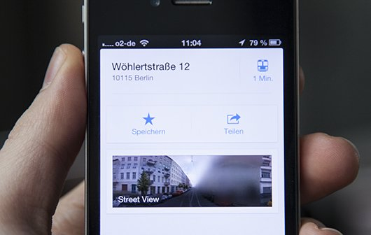 Street View in Google Maps App: Minitipp