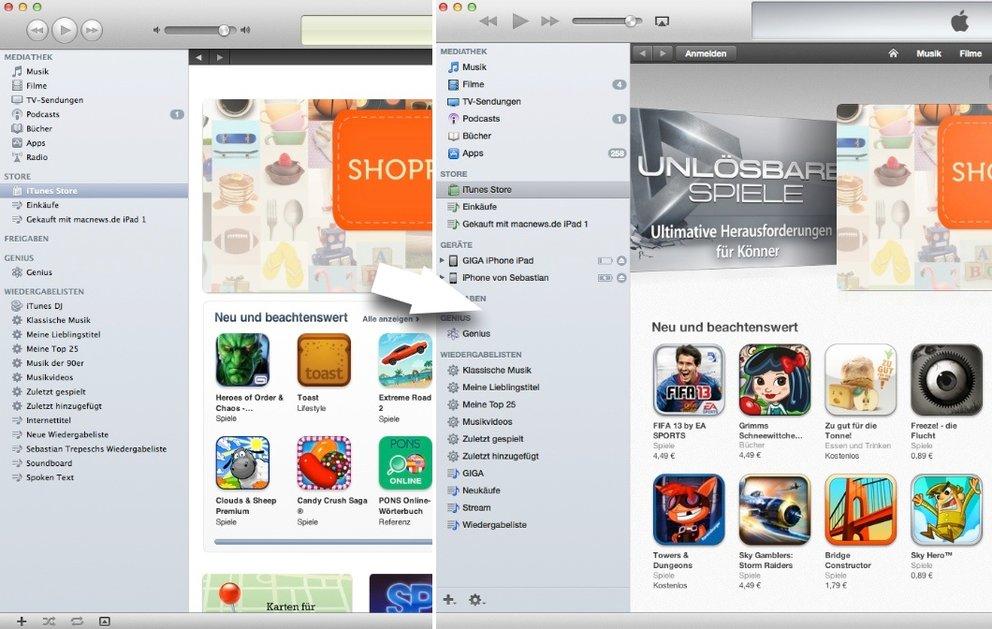 iTunes 11 mit Seitenleiste wie in iTunes 10.7, Cover-Größe, Duplikate und weitere Tipps
