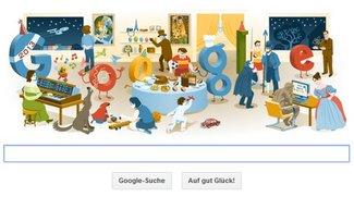 Google zeigt zu Silvester 2012 ein Best-of-Doodle - in Deutschland aber ohne Links