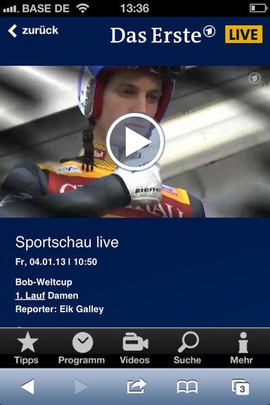 ARD Live-Stream unter iOS