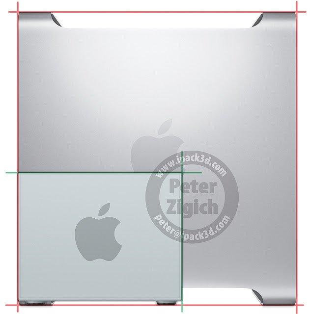 Mac Pro Konzept - Größenvergleich zum aktuellen Mac Pro