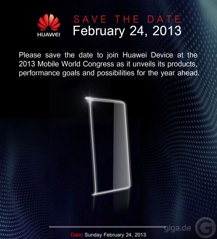 Save-the-Date for Huawei Device MWC 2013-2