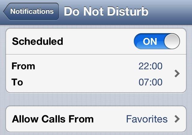 """iOS 6: Funktion """"Nicht stören"""" deaktiviert sich am Neujahrstag nicht automatisch"""
