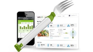 Gabel mit iPhone-App: Hapifork