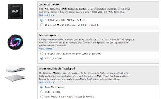 Fusion Drive: Jetzt auch als Built-to-Order-Option für günstigsten iMac