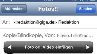 Kurztipp: Fotos oder Videos ohne Umweg in iOS-Mails einfügen
