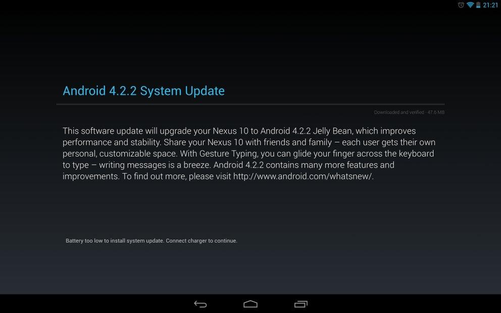 Android 4.2.2 für Galaxy Nexus, Nexus 7 und Nexus 10 wird ausgerollt