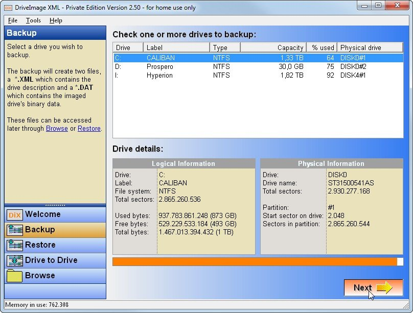 DriveImage-XML