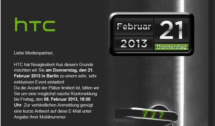 HTC lädt zum sehr, sehr exklusiven Event in Berlin
