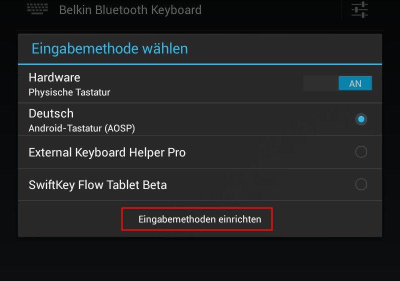 Korrektes Layout für Android-Bluetooth-Tastaturen 07